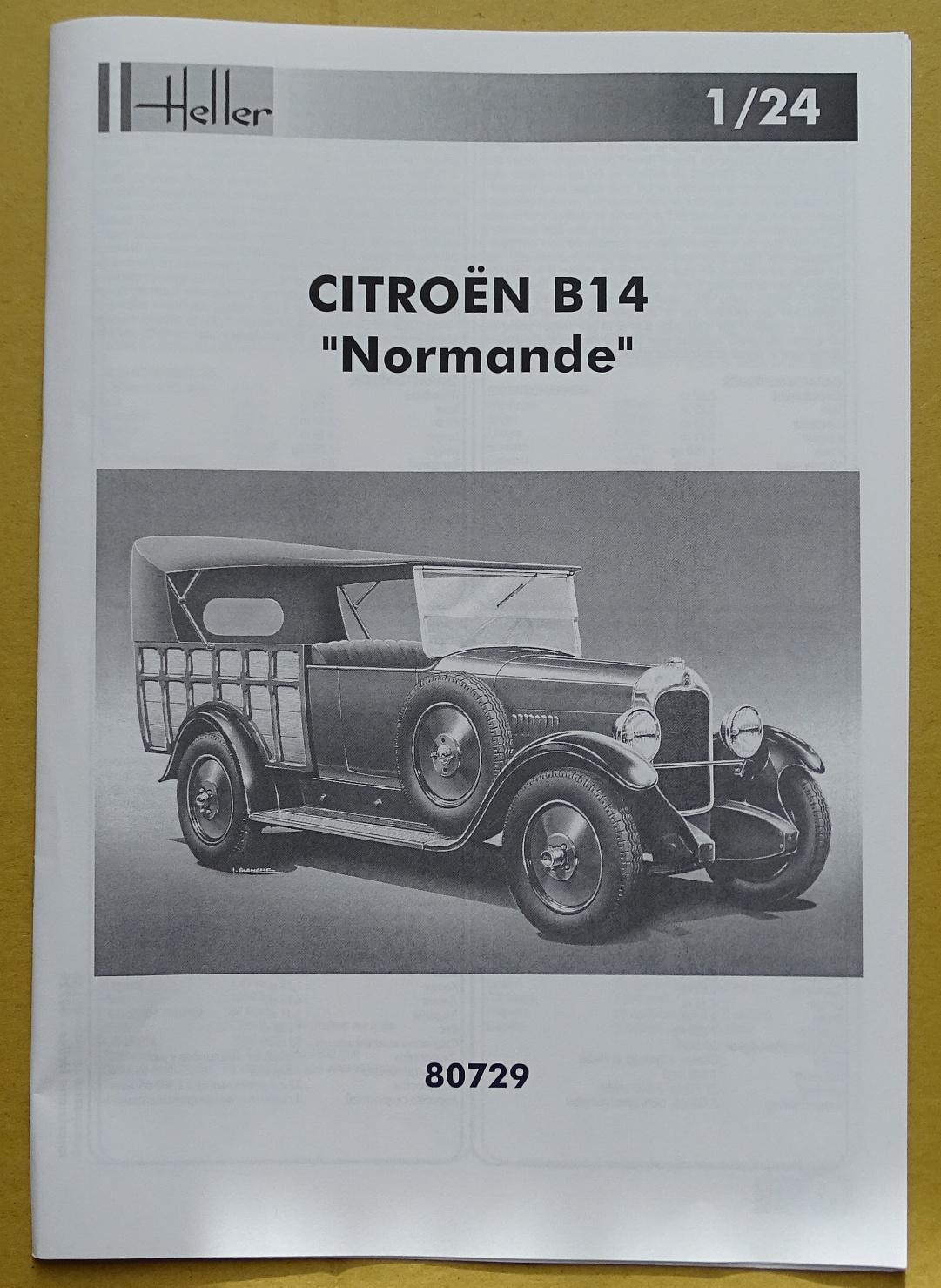 """[1/24] Citroën B14 """"normande"""" réf.80729 B14-plan-1"""