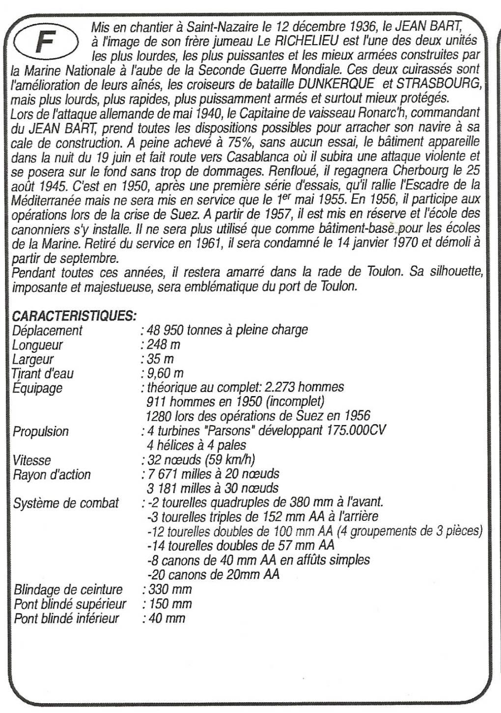 Cuirassé JEAN BART Réf 81077 JB-pl2