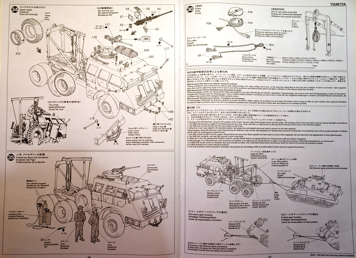 [Tamiya 1/35] M26 Armored tank recovery vehicle réf. 35244 M26-plan-8