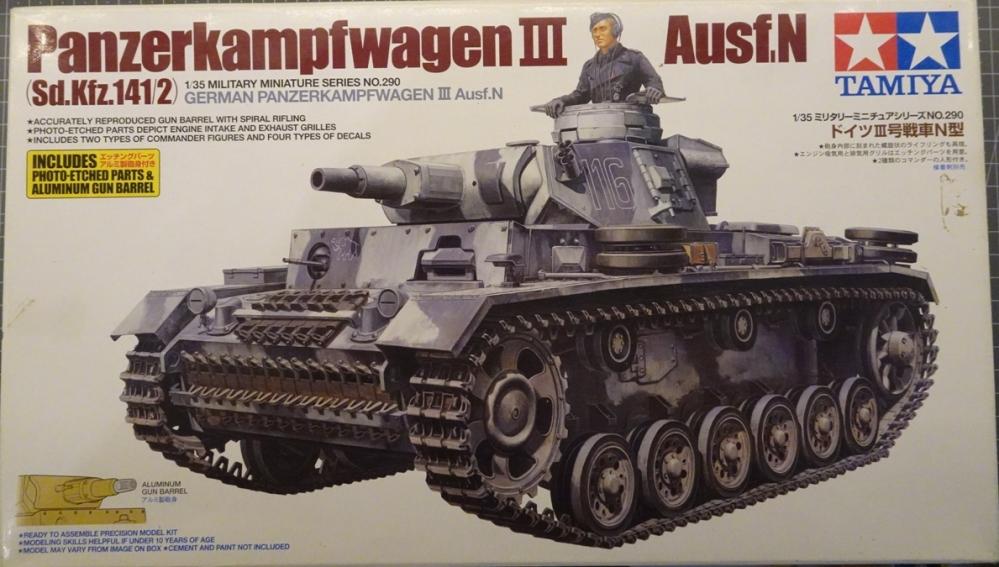 [Tamiya 1/35] Pz III Ausf.N (Sd.Kfz.141/2) réf. 35290 PZIII-boite