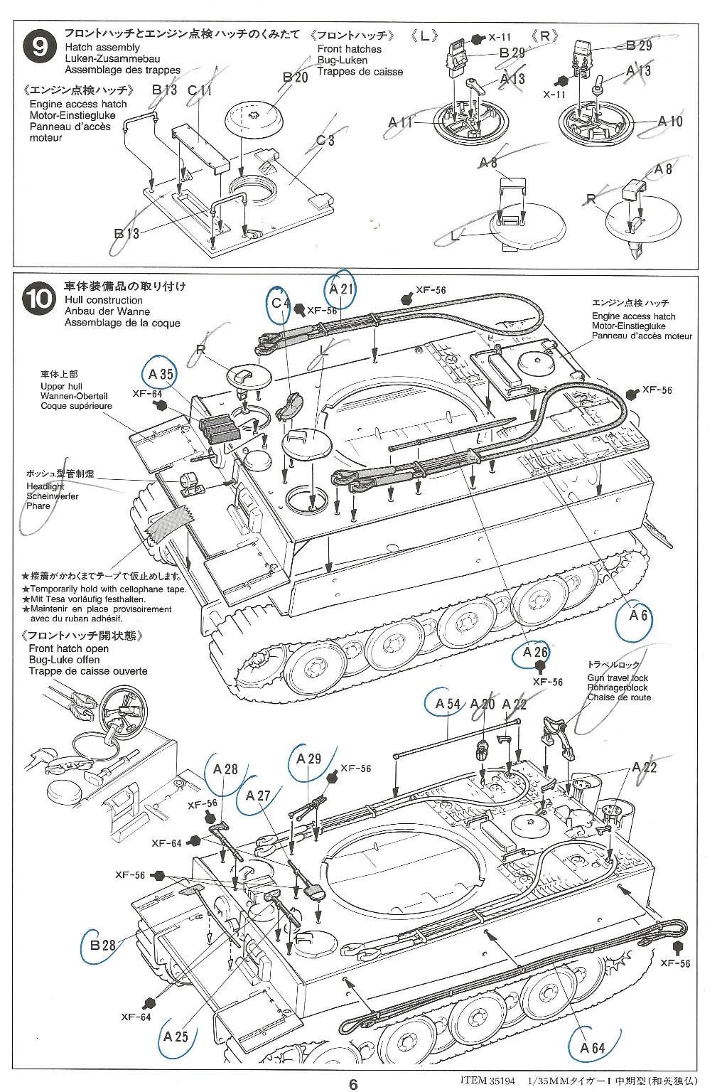 [Tamiya 1/35]  Tiger I mid production réf. 35194 Tigremid-plan-6