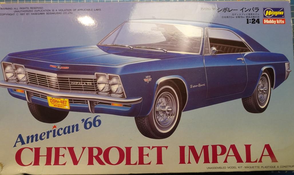 [Hasegawa 1/24] Chevrolet Impala (Série American 66) réf. CB-4 Impa-boite