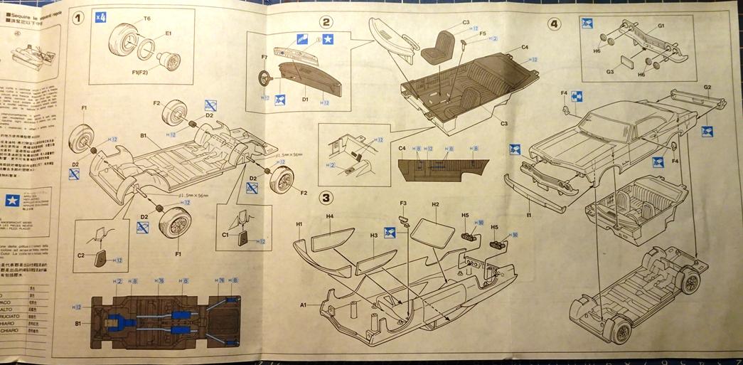 [Hasegawa 1/24] Chevrolet Impala (Série American 66) réf. CB-4 Impa-plan
